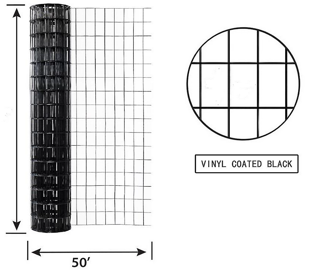 Welded Wire Vinyl Coated Black