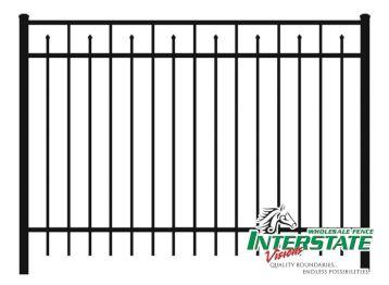 In Stock Aluminum Fence