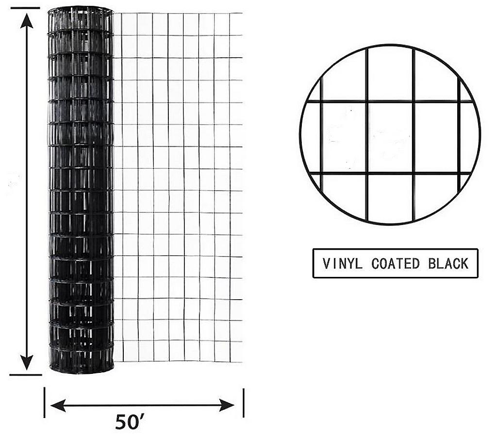 Welded Wire Vinyl Coated Black